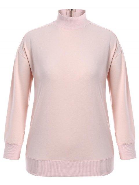 Sweatshirt à glissière - ROSE PÂLE 3XL Mobile