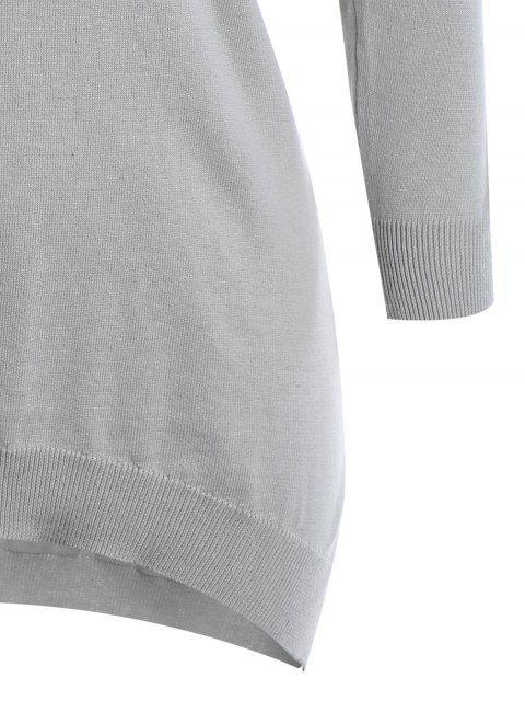 Robe en tricot à bas prix - Gris 2XL Mobile