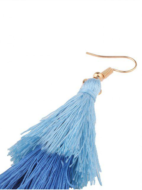 Boucles d'oreilles en forme de crochet - Bleu  Mobile