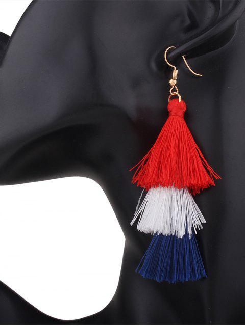 Boucles d'oreilles en forme de crochet - Rose+Bleu  Mobile