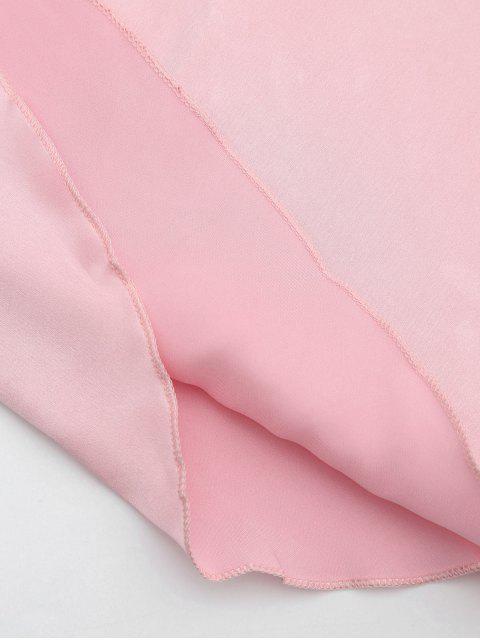new Lace Trim Satin Sleep Tank Dress - PINK XL Mobile