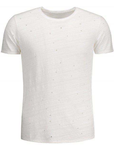 T-shirt en coton pour femme - Blanc XL Mobile