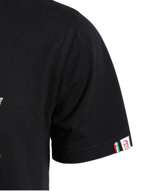 T-shirt graphique à manches courtes Camo - Noir 3XL Mobile