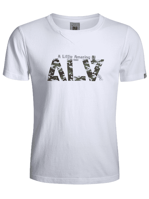 new Graphic Short Sleeve Camo Tee - WHITE 3XL Mobile