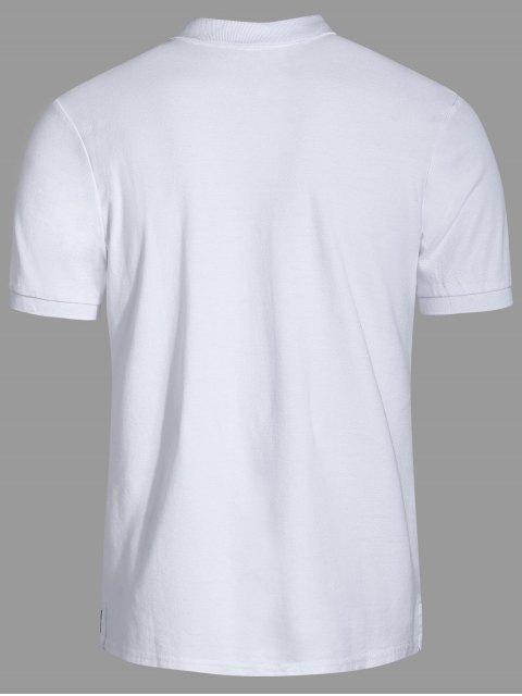 T-shirt brodé pour homme - Blanc 3XL Mobile