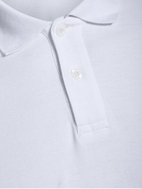T-shirt brodé pour homme - Blanc L Mobile