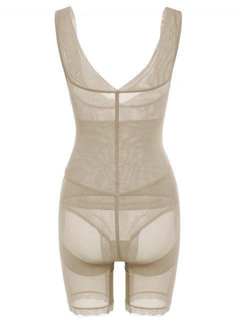 latest Open Bust Corset Bodysuit Body Shaper - COMPLEXION 2XL Mobile