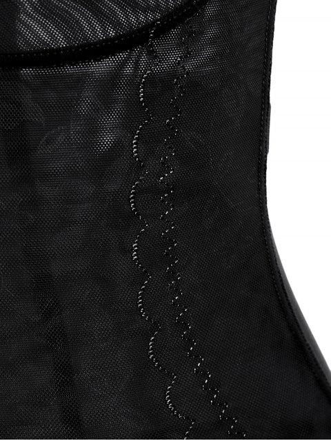 unique Open Bust Corset Bodysuit Body Shaper - BLACK 2XL Mobile