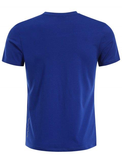 Crewneck Graphic Mens Jersey Tee - Bleu 2XL Mobile