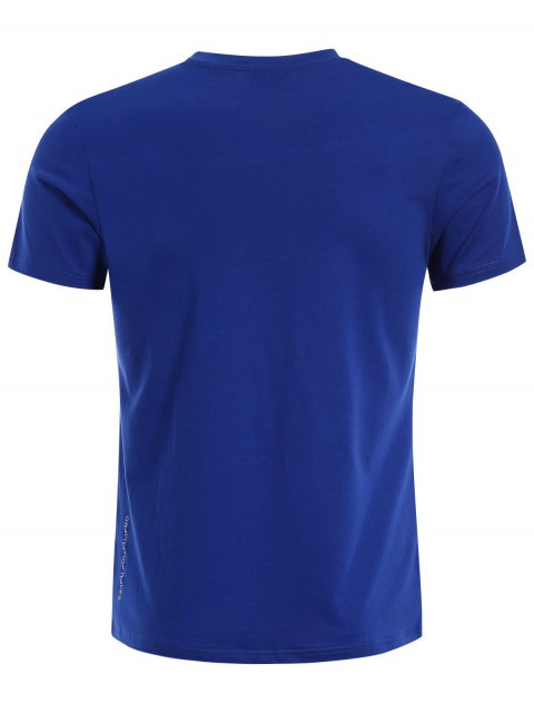 buy Crewneck Graphic Mens Jersey Tee - BLUE XL Mobile