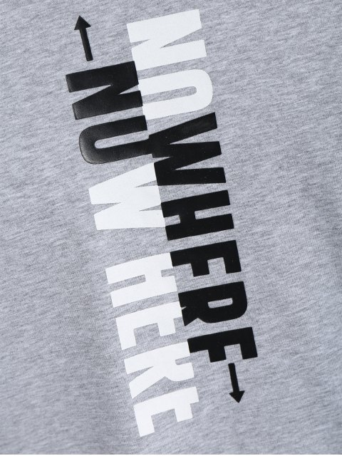 latest Mens Crewneck Slogan Graphic Tee - GRAY 3XL Mobile