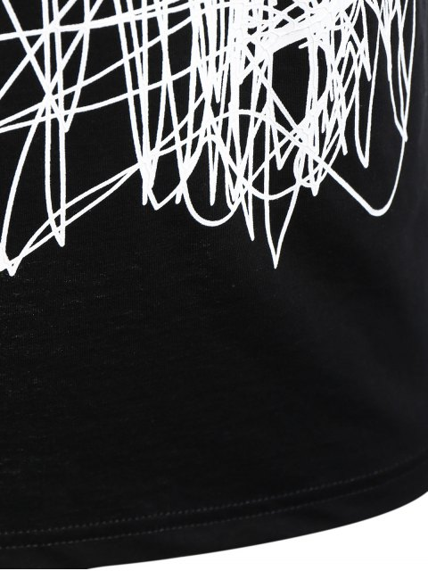 womens Mens Graffiti Dolphin Graphic Jersey Tee - BLACK XL Mobile