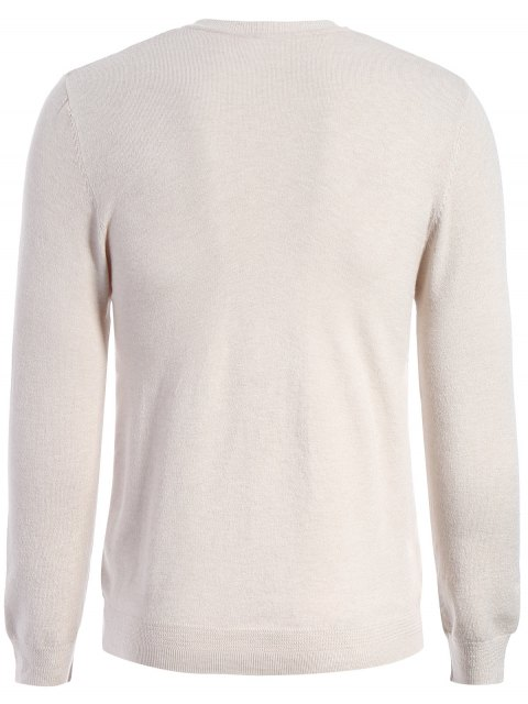 best Long Sleeve Pullover Knitwear - APRICOT 2XL Mobile