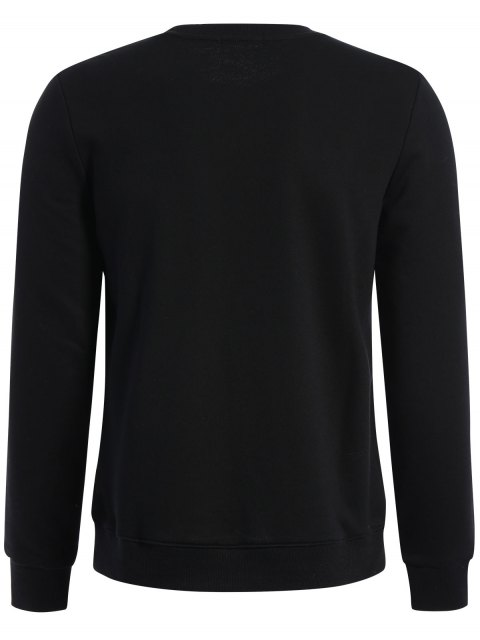 outfits Pullover Graphic Print Sweatshirt - BLACK 3XL Mobile