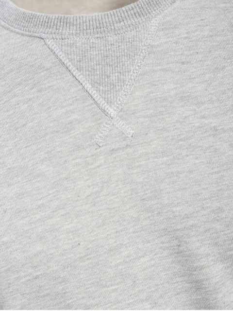 buy Mens Terry Pullover Sweatshirt - GRAY L Mobile