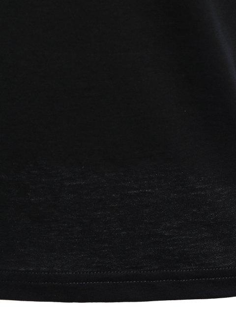 T-shirt Slim Fit Mens Stripe - Noir XL Mobile