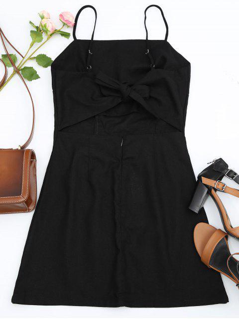 online Floral Patched Cami Dress - BLACK S Mobile
