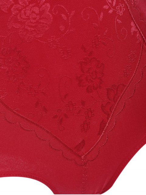 sale Tummy Control Shapewear Corset Briefs - RED 4XL Mobile