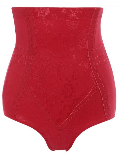 sale Tummy Control Shapewear Corset Briefs - RED 4XL Mobile