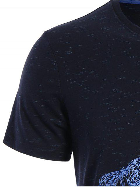 women's Short Sleeve Animal Horse Print T-shirt - DEEP BLUE XL Mobile