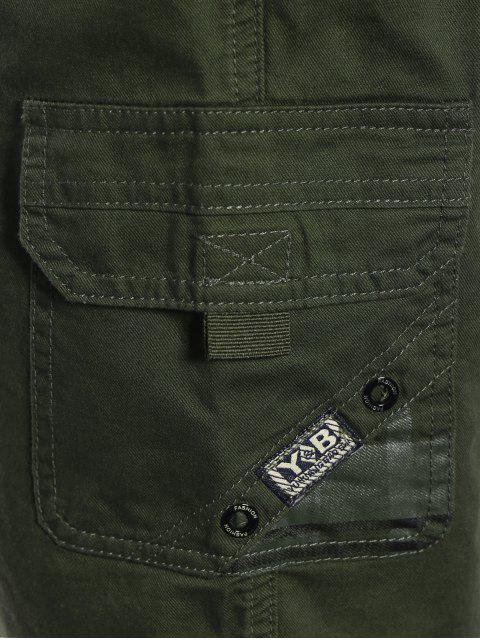 fashion Side Pockets Cargo Bermuda Shorts - ARMY GREEN 3XL Mobile