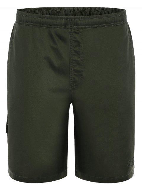 buy Side Pockets Cargo Bermuda Shorts - ARMY GREEN L Mobile