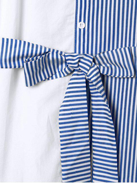 Blouson à rayures d'épaule - Bleu S Mobile