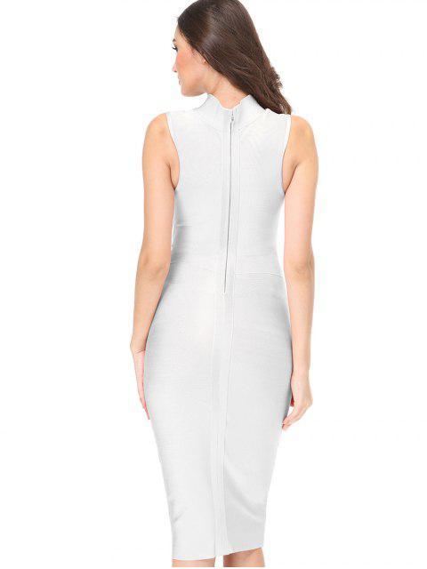 Robe de coton sans manches - Blanc L Mobile