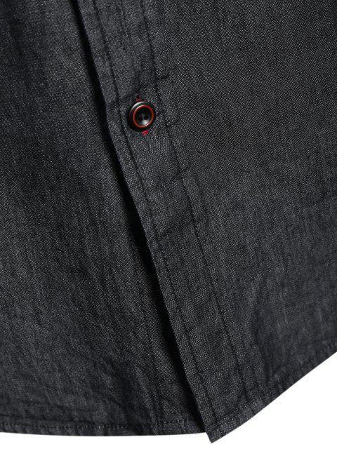 Chemise à manches courtes à manches courtes - Noir L Mobile