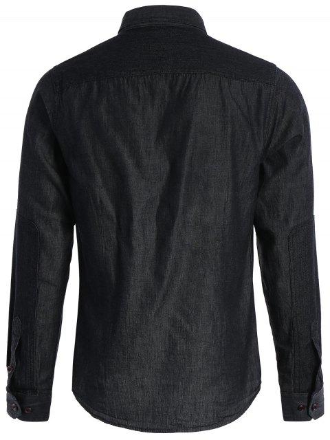 Chemise à manches courtes à manches courtes - Noir S Mobile