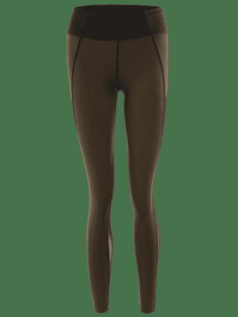 Collier de jambières de yoga extensible - Vert Olive   L Mobile