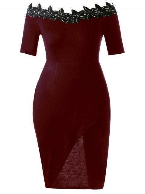 Robe à cravate ajustable en taille Plus - Rouge vineux  5XL Mobile
