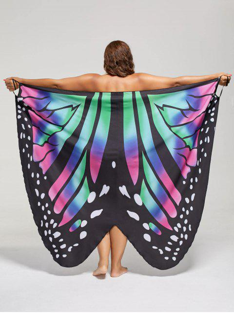 online Plus Size Butterfly Wrap Cover Up Dress - COLORMIX 5XL Mobile