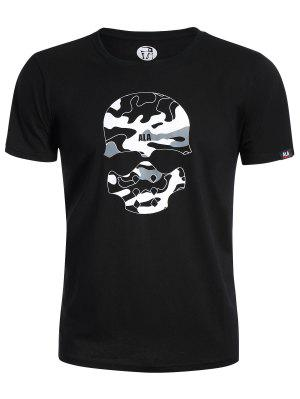 T-shirt Camo Graphique Imprimé Crâne