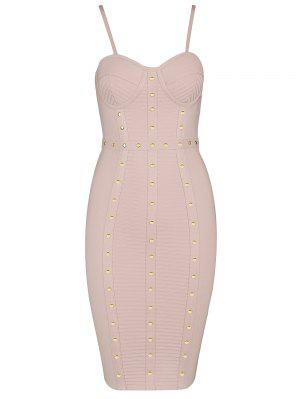 Embellished Cami Bandage Dress