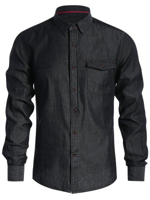 Pocket Single Breasted Denim Shirt