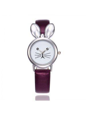 Reloj de Orejas de Conejo de Cuero Artificial