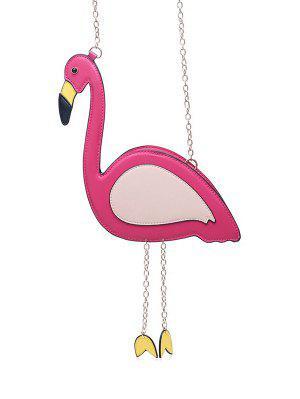 Novedad Flamingo En Forma De Crossbody Bolsa - Rosa Roja