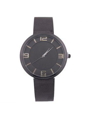 Mesh Alloy Band Number Quartz Watch