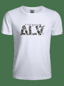 Blanco Corta Gr 3xl Camo 225;fica Camiseta Manga O7xqXX