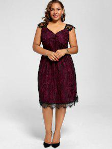 Red plus size cocktail dresses