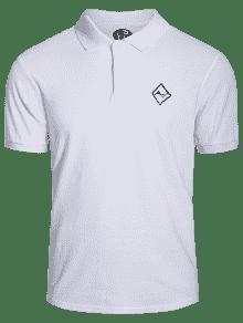 Hombres Camisa Bordaron Blanco La 3xl Polo rPrwE1q