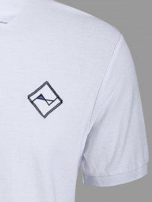 Hombres Bordaron 3xl Camisa La Blanco Polo RxpqRfw