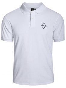 T-shirt Brodé Pour Homme - Blanc M