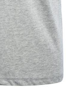 Mezcla De Algod Corta Manga Gr Camiseta 243;n H64Txwq