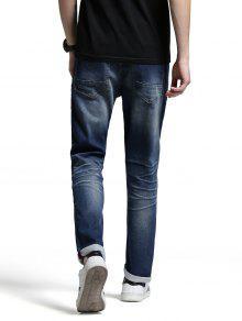 M nner zerrissene jeans mit rei verschluss denim blau - Zerrissene jeans herren ...