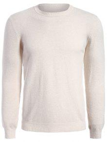 Long Sleeve Pullover Knitwear - Apricot Xl