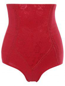 Cinturón Con Forma De Abdomen Shapewear - Rojo M