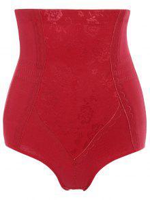 Tummy Control Shapewear Corset Briefs - Red M