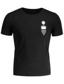 Short Sleeve Mens Crewneck Jersey Tee - Black Xl